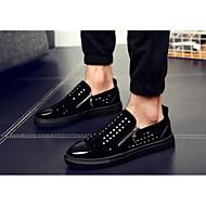 גברים-שטוחות-עור-נעלי בובה (מרי ג'יין)-שחור-קז'ואל-עקב שטוח