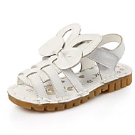 Girl's Sandals Summer Sandals Leather Casual Flat Heel Applique Pink / White Walking