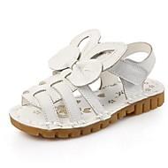 Szandálok-Lapos-Női cipő-Szandálok-Alkalmi-Bőr-Rózsaszín / Fehér