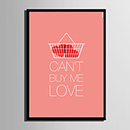 E-HOME® Framed Canvas Art, The Basket Is Love Letter Series Framed Canvas Print One Pcs