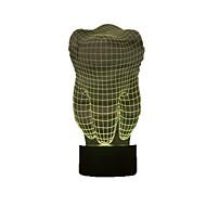 Zahnform 3d Illusion LED Tischleuchte Nachtlicht