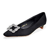 Women's Flats Fall Comfort PU Casual Flat Heel Pearl Black / Gray / Fuchsia Others