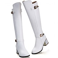 Feminino-Saltos-Saltos / Inovador / Botas de Cowboy / Botas de Neve / Botas Cano Curto / Arrendondado / Botas Montaria / Botas da Moda /