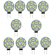 10PCS G4 9SMD 5730 1.5W 150-200LM Warm White/White Decorative DC12V LED Bi-pin Lights