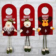 juletre innredning ornamenter vent hjem døren dekorasjon julenissen snømann reinsdyr