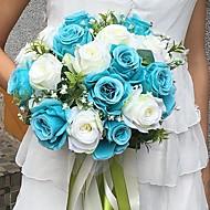"""Svatební kytice Kulatý Růže Kytice Svatba / Párty / večerní akce Satén 28 cm (cca 11,02"""")"""