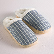 Traditional Blue Grid Slide Slippers Men's Slippers