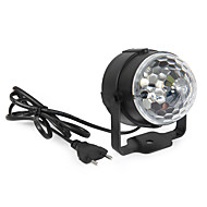 3W Festoon תאורת במה לד מסתובב 1 לד בכוח גבוה 360 lm RGB מופעל על ידי קול / דקורטיבי AC 85-265 V חלק 1
