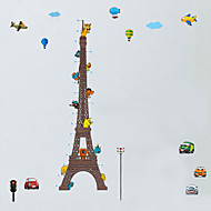 Wall Stickers Wall Decals Style Eiffel Tower Measure Your Height PVC Wall Stickers