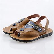 Szandálok-Lapos-Női cipő-Papucs és papucs-Alkalmi-Fordított bőr-Barna