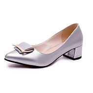 Women's Heels Spring / Summer / Fall Ballerina PU / Office & Career / Casual Low Heel OthersBlack / White / Silver