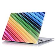 "Case for Macbook 13"" Macbook Air 11""/13"" Macbook Pro 13""/15"" MacBook Pro 13""/15"" with Retina display Stripes Plastic Material Rainbow Pattern"