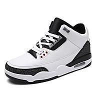 Muškarci Sneakers Proljeće Ljeto Jesen Zima Udobne cipele Mikrovlakana Aktivnosti u prirodi Ležeran Atletika Ravna potpetica VezanjeCrna