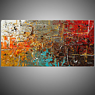 IARTS Yellow Abstract Paintings On Canvas Art Stretchered Ready 2 Hang