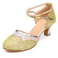 Sapatos de Dança(Azul / Amarelo) -Feminino-Personalizável-Latina / Moderna