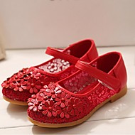 Girl's Sandals Summer Mary Jane Lace Dress Flat Heel Applique Pink / Red / White Others