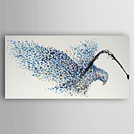 Oil Painting Abstract Bird by Knife Hand Painted Canvas Painting with Stretched Framed Ready to Hang