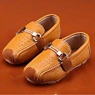 Unisex-Loafers & Slip-Ons-Lässig-Leder-Flacher Absatz-Komfort-Braun Weiß
