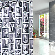Contemporânea Poliéster 1.8*2M - Alta qualidade Cortinas de Banheiro