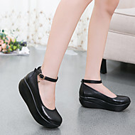 Women's Heels Fall Crib Shoes Leather Casual Wedge Heel Others Black Others