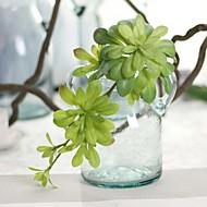 "1PCS 1 ענף פלסטיק / סיליקה ג'ל צמחים פרחים לשולחן פרחים מלאכותיים Total Length:6.7"""