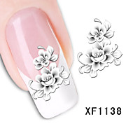 Ottery verleidelijke bloemen nail art diy stickers water transfer decals nail art sticker tip sticker manicure
