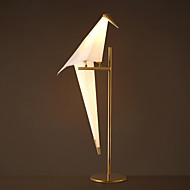 Simple Vintage PVC Papercranes Electroplated Table Lamp for the Study Room / Bedroom Decorate Wall Light