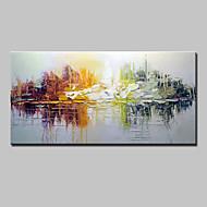 Maalattu Abstrakti Vaakasuora,Moderni Classic Perinteinen 1 paneeli Kanvas Hang-Painted öljymaalaus For Kodinsisustus