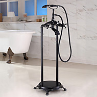 PHASAT Floor Mounted Handshower Included / Floor Standing  for Oil-rubbed Bronze Bathtub Faucet