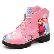 Girl's Boots Spring / Fall / Winter Wedges Leatherette Outdoor / Casual Wedge Heel Chain Blue / Pink / White Snow Boots