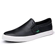 Loafers og Slip-ons-Læder-Komfort-Herre-Sort Blå Hvid-Udendørs Kontor Fritid-Flad hæl