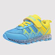 Unissex-Tênis-Botas da Moda Light Up Shoes-Rasteiro-Azul Amarelo Fúcsia-Tule Couro Ecológico-Ar-Livre Casual Para Esporte