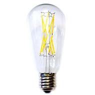 12W E26/E27 Lâmpadas de Filamento de LED ST64 12 COB 1100 lm Branco Quente Impermeável AC 220-240 V 1 pç