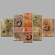 Group Paintings 5 Sets Fashion Music Art Abstract Paintings With Wooden Stretcher