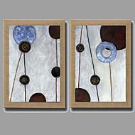 Maalattu Abstrakti / Asetelma / Fantasy / Kukkakuvio/Kasvitiede öljymaalauksia,Moderni / Realismi / European Style 2 paneeli Kanvas