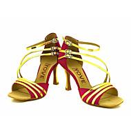Dansesko(Sort / Blå / Rød / Sølv / Guld) -Kan tilpasses-Personligt tilpassede hæle-Damer-Latin / Salsa