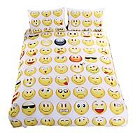 Neuartig Bettbezug-Sets 3 Stück Polyester / Baumwolle Karton Reaktivdruck Polyester / BaumwolleEinzelbett / Doppelbett / ca. 1,50 m