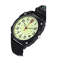 European style Military Watches compass Noctilucent Multifunction Nylon canvas belt sport Quartz watch Montres hommes