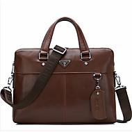 Men Briefcase Cowhide All Seasons Formal Office & Career Black Brown
