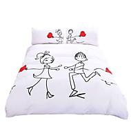 BeddingOutlet Love Follows Bedding Set Romantic Duvet Cover Valentine's Day Gifts Pillow Case 3Pcs Multi Sizes