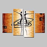 Handgeschilderde Abstract Vier panelen Canvas Hang-geschilderd olieverfschilderij For Huisdecoratie