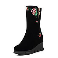 Women's Boots Fall / Winter Comfort Fabric Casual Flat Heel Slip-on Black Others