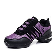 Women's Athletic Shoes Spring / Summer / Fall / Winter Closed Toe Tulle Athletic Flat Heel Lace-upPink