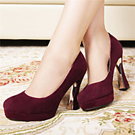 Women's Heels Fall Platform Suede Casual Chunky Heel Others Black / Burgundy Others