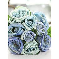 """1 Bunch 1 haara Silkki Ruusut Pöytäkukka Keinotekoinen Flowers Total Length:9.9"""";Diameter:6.7"""""""