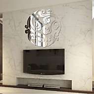 1PC Cloud Mirror Wall Stickers