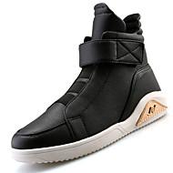Herre-PU-Lav hæl-Komfort-Støvler-Friluft Fritid Sport Work & Safety-Svart Rød Hvit