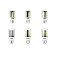 12W E14 B22 E26/E27 LED corn žárovky B 136 SMD 5733 1000 lm Teplá bílá Chladná bílá Ozdobné AC 220-240 V 6 ks