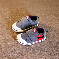 Lapos-Lapos-Női cipő-Lapos-Alkalmi-Vászon-Piros / Szürke