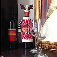 cervos christmas estilo alces garrafa de champanhe vinho tinto cobre saco para o ano novo decorações do Natal ornamento